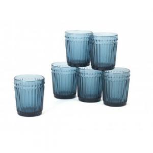 Geri Confezione 6 Bicchieri Blu 300 ml Basso