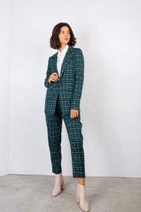 FACE TO FACE STYLE Pantaloni York P306 tessuto quadri colore petrolio