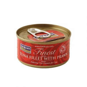 FISH4CATS FILETTI DI TONNO E GAMBERI GATTO 70G