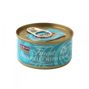 FISH4CATS UMIDO GATTO TONNO E GRANCHIO 70 GR