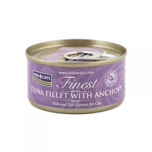 FISH4CATS UMIDO GATTO TONNO E ACCIUGHE TUNA WITH ANCHOVY 70 GR