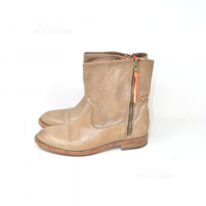 Boots Leather Woman Caterina Martins N 40 Brown Hazelnut