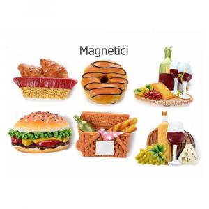 Magnete calamita a forma di cibo in resina colorata con calamita