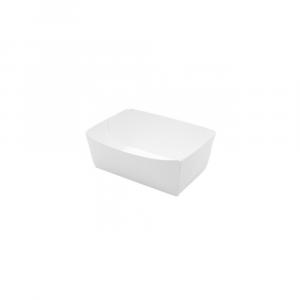 Vaschetta in cartoncino bio bianco 430ml - 11x8x4cm