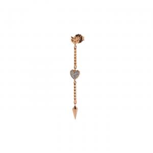 Mono orecchino - Stardust Tribe - Freccia e Cuore