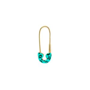 Mono orecchino - Jungle Tribe - Spilla Azzurra