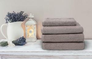 Asciugamani bagno tortora