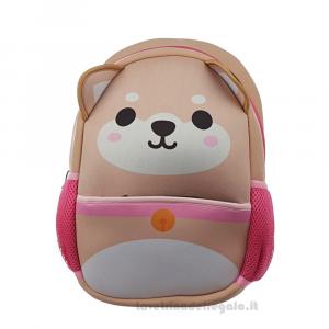 Zainetto cane Shiba Inu in neoprene per bambini 22x10x31 cm - Idea Regalo