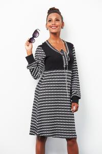 Abito bicolore nero e bianco | abbigliamento Mamta online