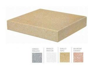 Imer testata terminale coprimuro unico evolution in cemento levigato BIANCO  11,50cm(interno)