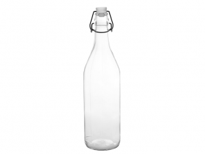 Cerve bottiglia vetro trasparente a righe verticali 1lt