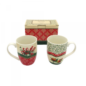 Brandani 2 tazze mug decoro Natale