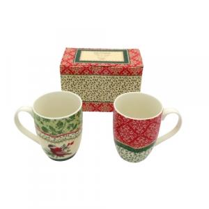 Brandani 2 tazze mug Natalizie porcellana decorata