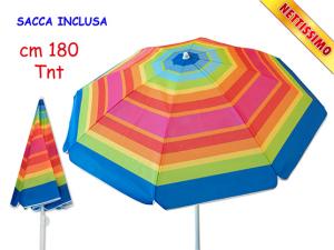 OMBRELLONE TNT 180cm ARCOBALENO PALO FINO 51789 TEOREMA