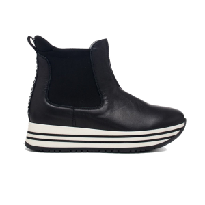 Girl's leather ankle boot