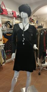 Vestito velluto nero da sera con paillettes | abbigliamento elegante online