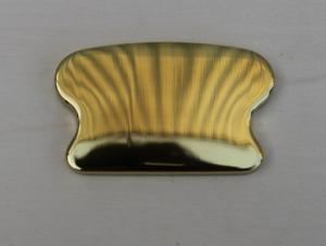 Finale Per Corrimano Ottone lucido art. 89  mm 68 x 40 (Prezzo Per Pz. 2)