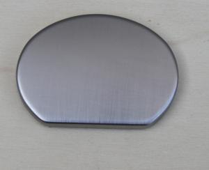 Finale Per Corrimano Sagoma Ovale cromo satinato art. 91 mm 55 x 40 (Prezzo Per Pz. 2)