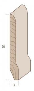 MM 70X14 ML 3.00  - BATTISCOPA PINO GREZZO