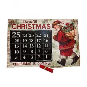 Calendario dell'Avvento in legno lavagna con gessetto
