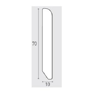 MM 70X10 ML 3.00 -  BATTISCOPA PINO GREZZO