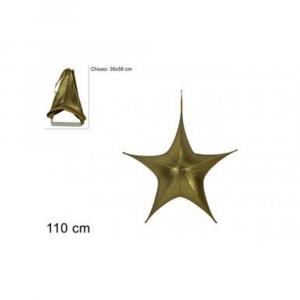 Due Esse Stella Natalizia Appendino 110 cm Laminata Oro Richiudibile