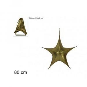 Due Esse Stella Natalizia Appendino 80 cm Laminata Oro Richiudibile