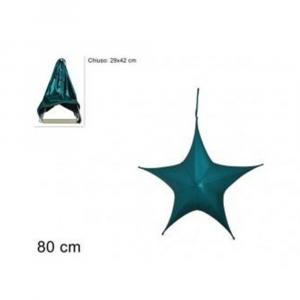 Due Esse Stella Natalizia Appendino 80 cm Laminata Verde Richiudibile