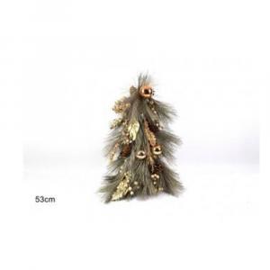Due Esse Albero Di Natale Con Palline color Oro 53 cm