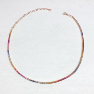 GIROCOLLO CHOCKER TENNIS RAINBOW