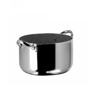 Pentola Aeternum Granfamiglia In Alluminio Diametro 30 Color Acciaio Effetto Pietra a Induzione