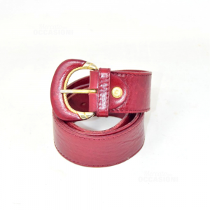 Belt In Genuine Leather Red Horse Red