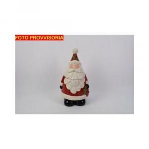 Due Esse Barattolo Natalizio Forma di Babbo Natale 31 cm