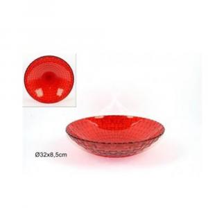 Due Esse Centro Tavola in Vetro Rosso 32x8,5 cm