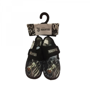 Pantofole a scarpina numero 26 Juventus bambino nero