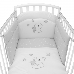 Completo piumone lettino Little Star  grigio