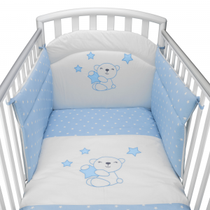 Completo Piumone Lettino  Little Star Azzurro