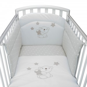 Completo Piumone Lettino Little Star Beige