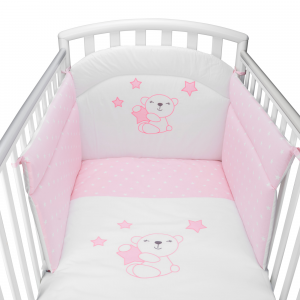Completo Piumone Lettino  Little Star Rosa