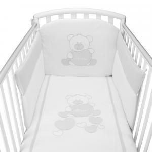 Completo Piumone Lettino Baby Bear Grigio