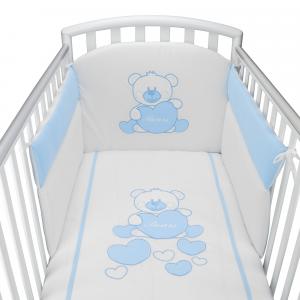 Completo Piumone Lettino Baby Bear Azzurro