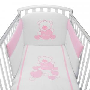 Completo Piumone Lettino Baby Bear Rosa