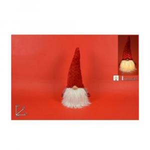 Due Esse Gnomo Natalizio Con Cappello Di Velluto Rosso 42 cm