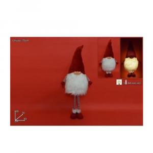 Due Esse Gnomo Natalizio Con Cappello Di Velluto Rosso 95 cm Alzato