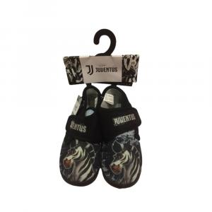 Pantofole a scarpina numero 33 Juventus bambino nero