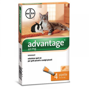 ADVANTAGE FIALE SPOT-ON 40mg ANTIPARASSITARIO PER GATTI E CONIGLI