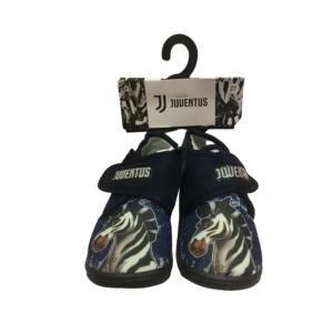 Pantofole a scarpina numero 26 Juventus bambino blu