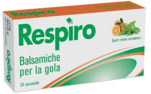 Respiro Balsamiche Gola Menta Mandarino 24 Caramelle