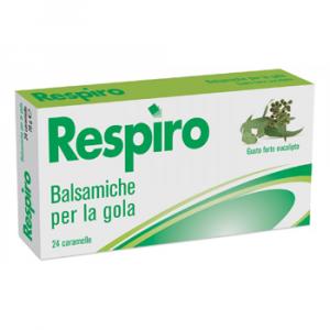 Respiro Balsamiche per la Gola Eucalipto 24 Caramelle