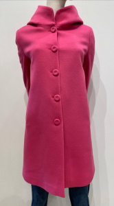 HANITA couture Cappotto K835.2942 con cappuccio e interno logato Hanita couture luxury colore fuxia 100 % lana